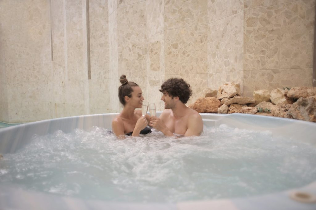 people in a tub